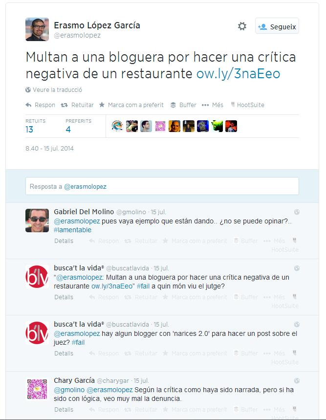 multar bloguera